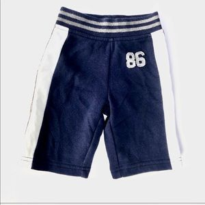 Striped navy baby pants